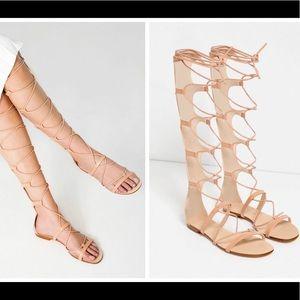 💕ZARA Flat Gladiator Boot Sandal